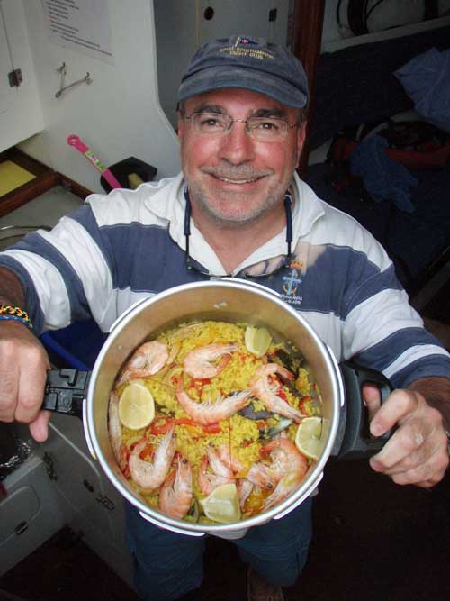 Good food aboard Sailing Courses Gran Canaria